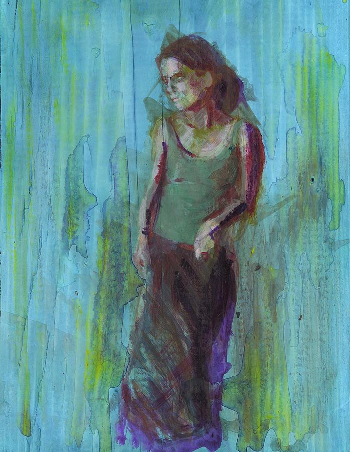 Female Painting - Natalie by Eric Atkisson