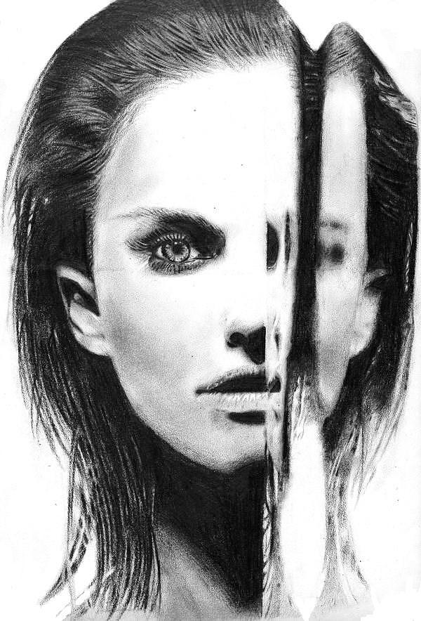 Pencil Drawing Drawing - Natalie Portman by Chris Baggott