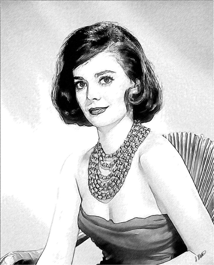 Celebrity Drawing - Natalie Wood 05 by Dean Wittle