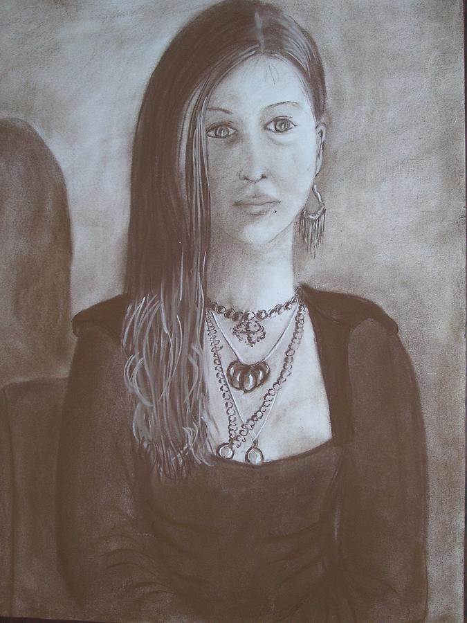 Portrait Drawing - Natasha by Bonita Bruch