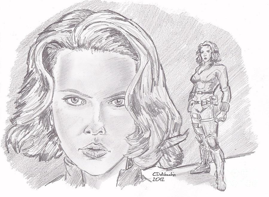 Natasha Romanova- Black Widow Drawing by Chris  DelVecchio