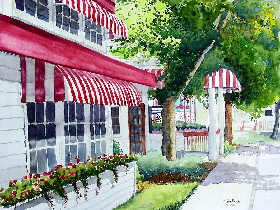 Watercolor Painting - Nates by Tom Riggs