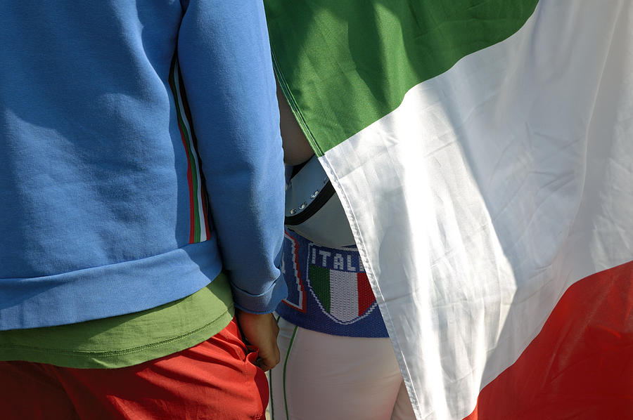Ensign Photograph - National Colors Of Italy - Green White And Red by Matthias Hauser