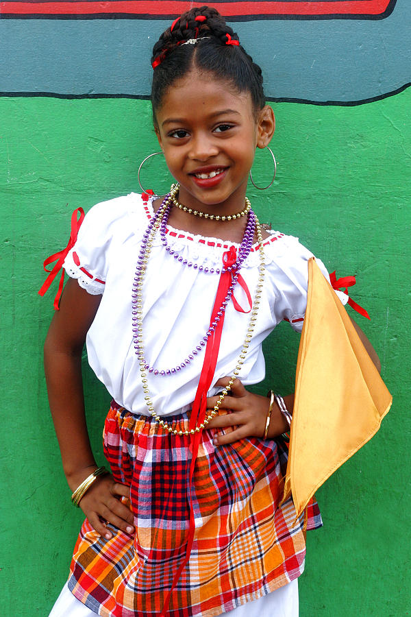 St Lucia Photograph - National Costume- St Lucia by Chester Williams