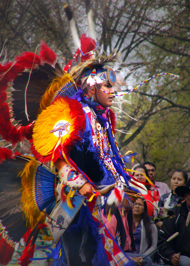 Jingle Dance Photograph - Native American Dancer One by Nancy Griswold