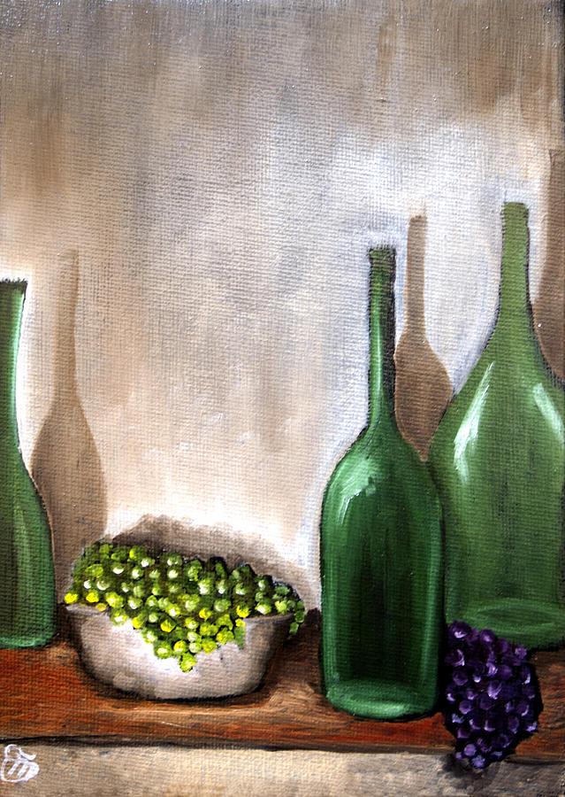 Still Life Painting - Natura Morta Con Uva by Simona  Mereu