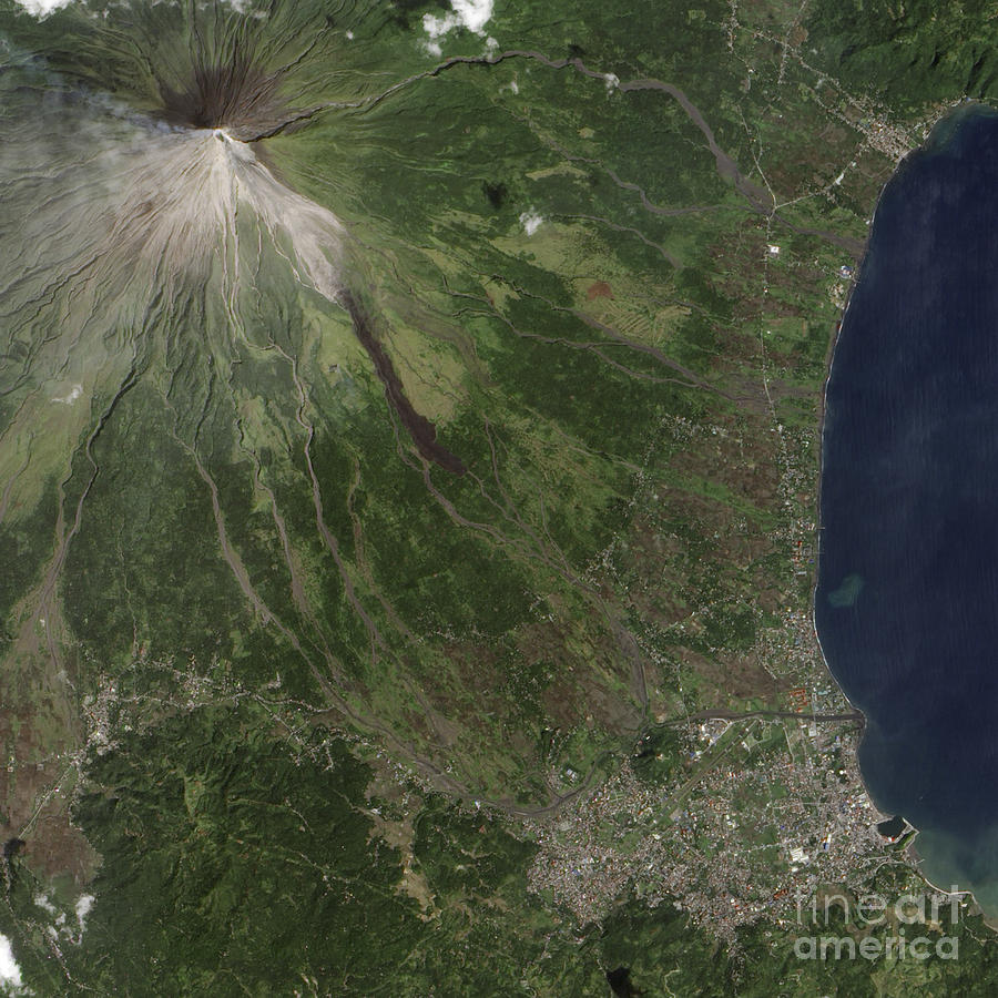 Landform Photograph - Natural-color Image Of The Mayon by Stocktrek Images