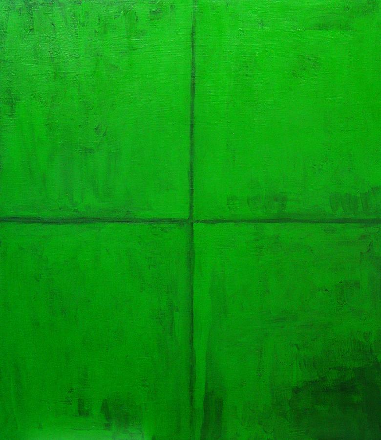 Abstract Pattern Painting - Natural Green Coordinate System by Kazuya Akimoto