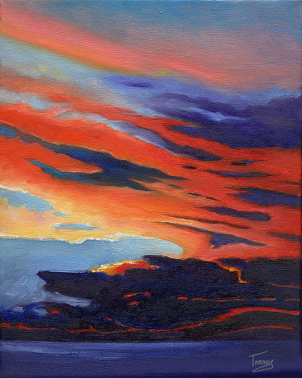 Ocean Painting - Natural Light by Catherine Twomey