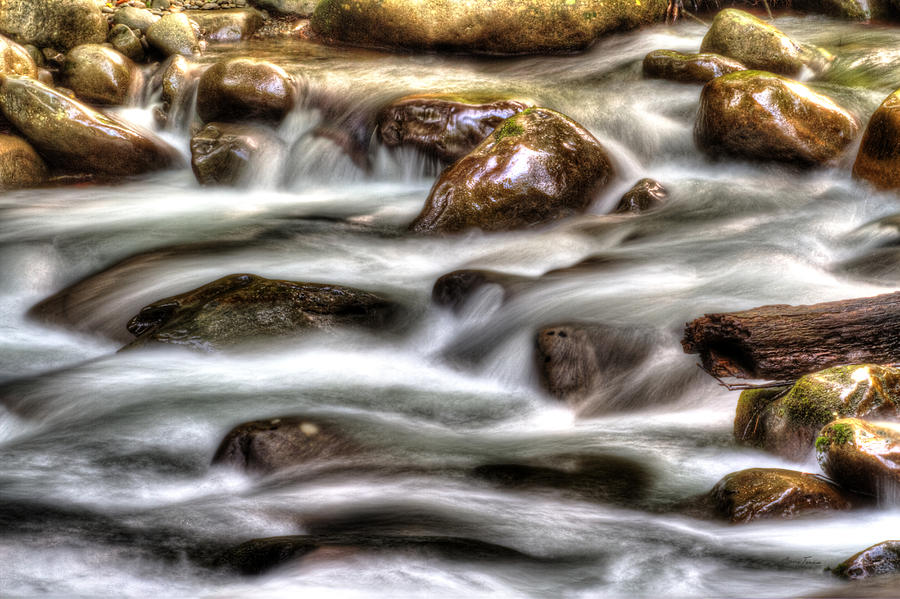 Water Photograph - Natural Rush by Barry Jones