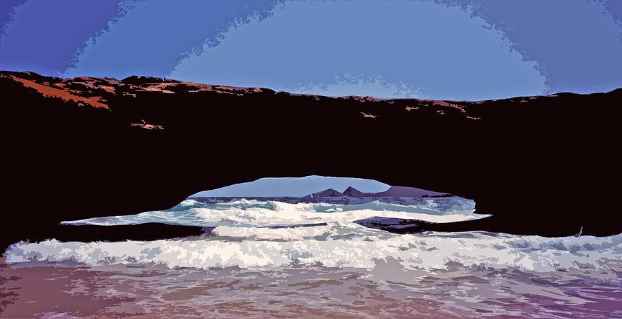 Netherland Photograph - Natural Stone Bridge - Aruba by Juergen Weiss