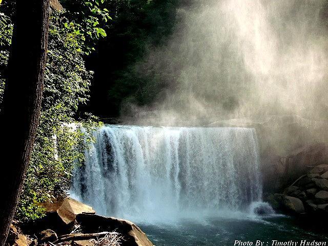 Natural Waterfall Photograph by Timothy Hudson