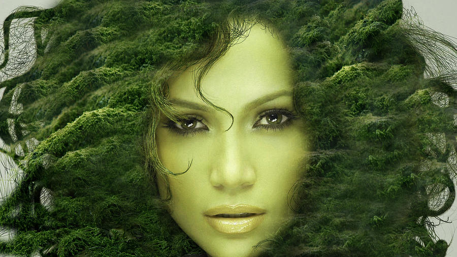 nature girl digital art by ayushi bandil