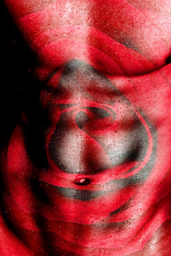 Male Nude Art Photograph - Nature In Red  by Mark Ashkenazi