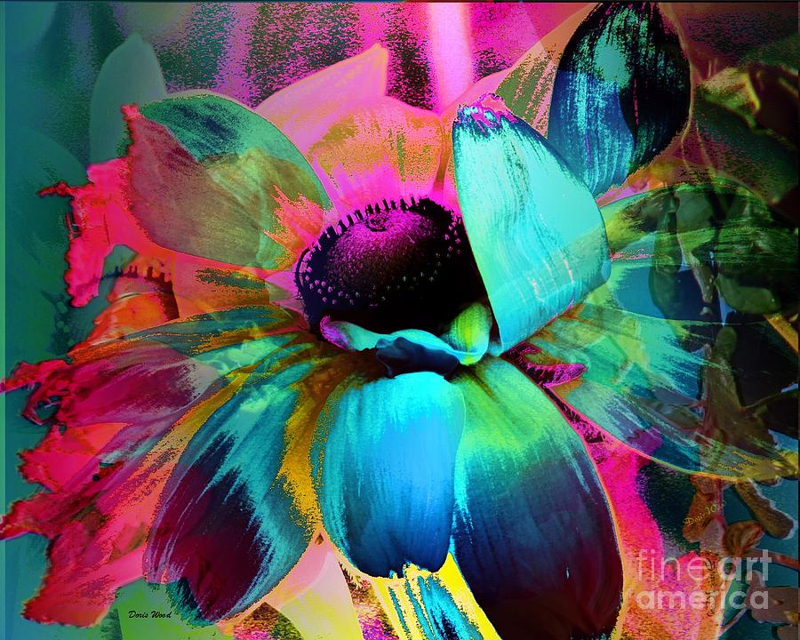 Abstract Digital Art - Natures Beauty by Doris Wood