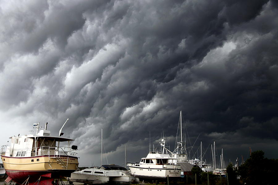 Storms Photograph - Natures Fury by Karen Wiles