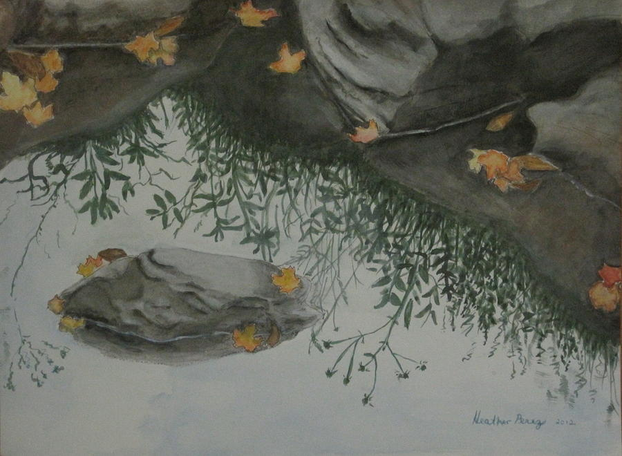 Nature Painting - Natures Mirror by Heather Perez