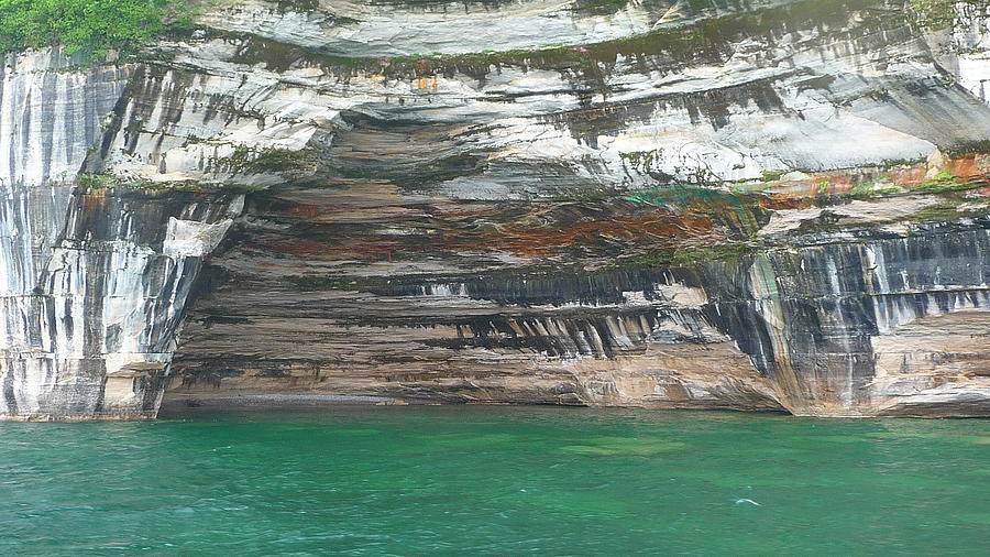 Picture Rocks Photograph - Natures Painting by Michael Carrothers