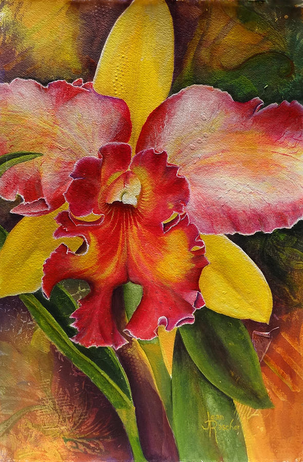 Orchid Painting - Natures Splendor by Jean Rascher