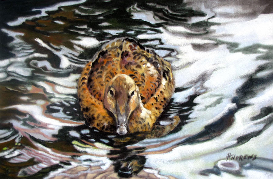 Duck Painting - Natures Tapestry by Rae Andrews