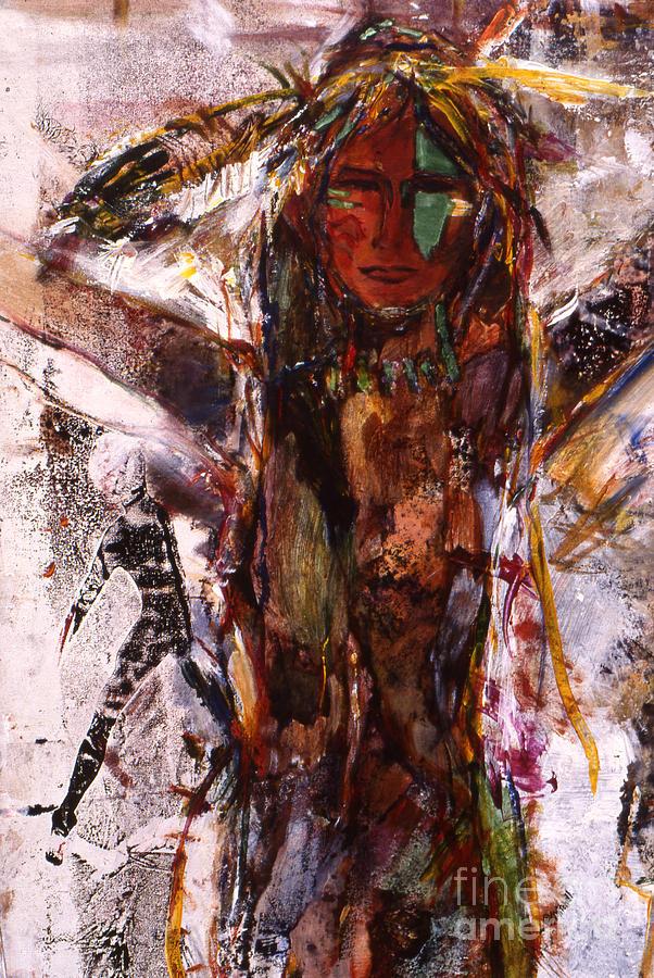 Naughty Lady Of Santa Fe Mixed Media by Charles B Mitchell