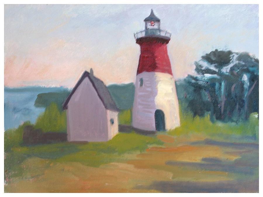 Nauset Lighthouse Painting - Nauset Lighthouse Cape Cod by Suzanne Elliott