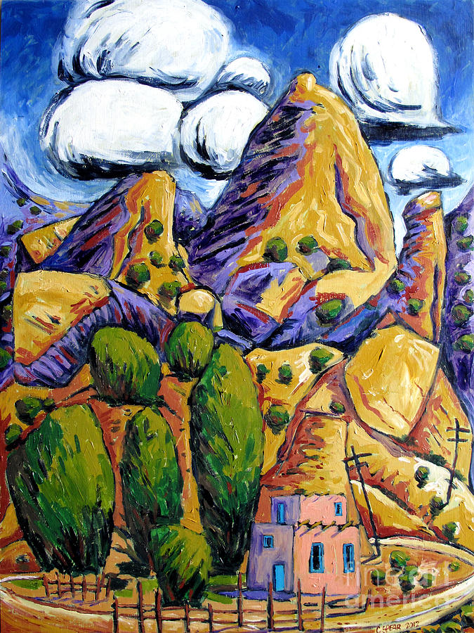 Landscape Painting - Navaho Trading Post by Charlie Spear
