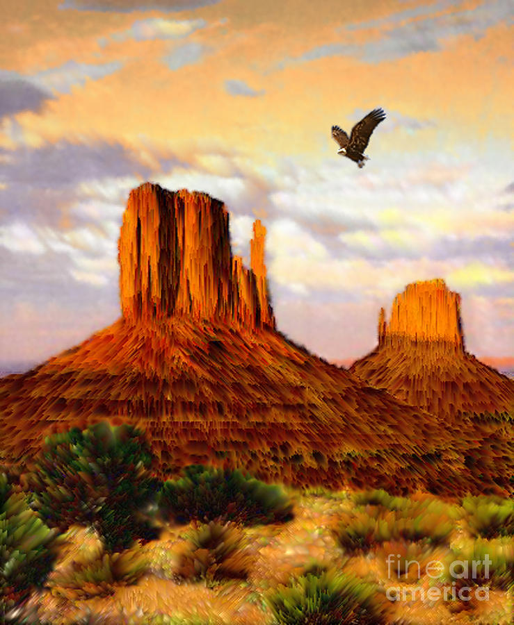 Navajo Spirit Painting By Jerry McElroy