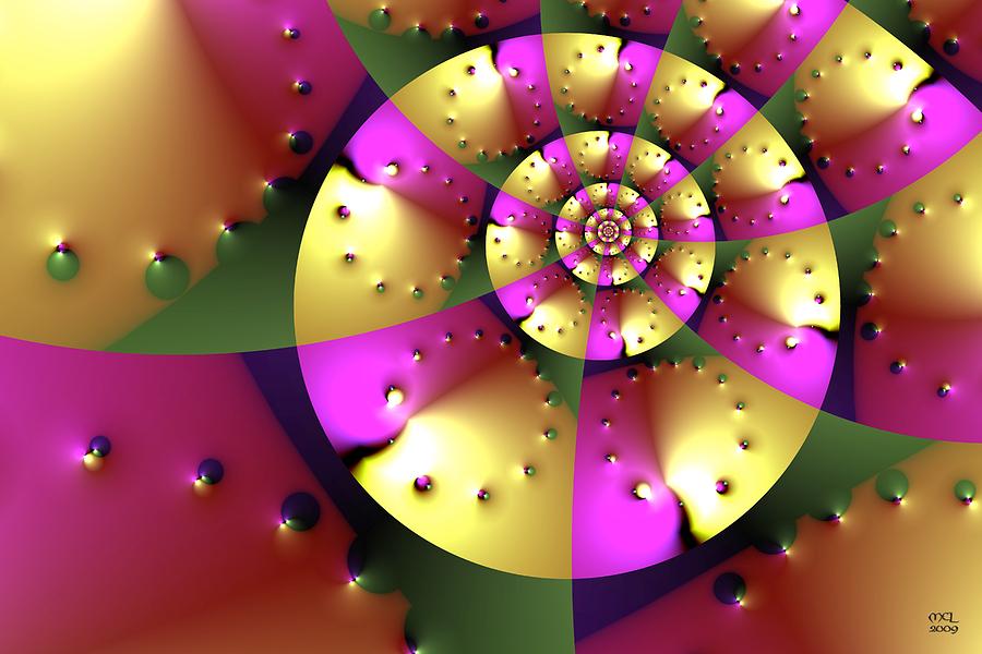 Abstract Digital Art - Navigating Minkowski Space by Manny Lorenzo