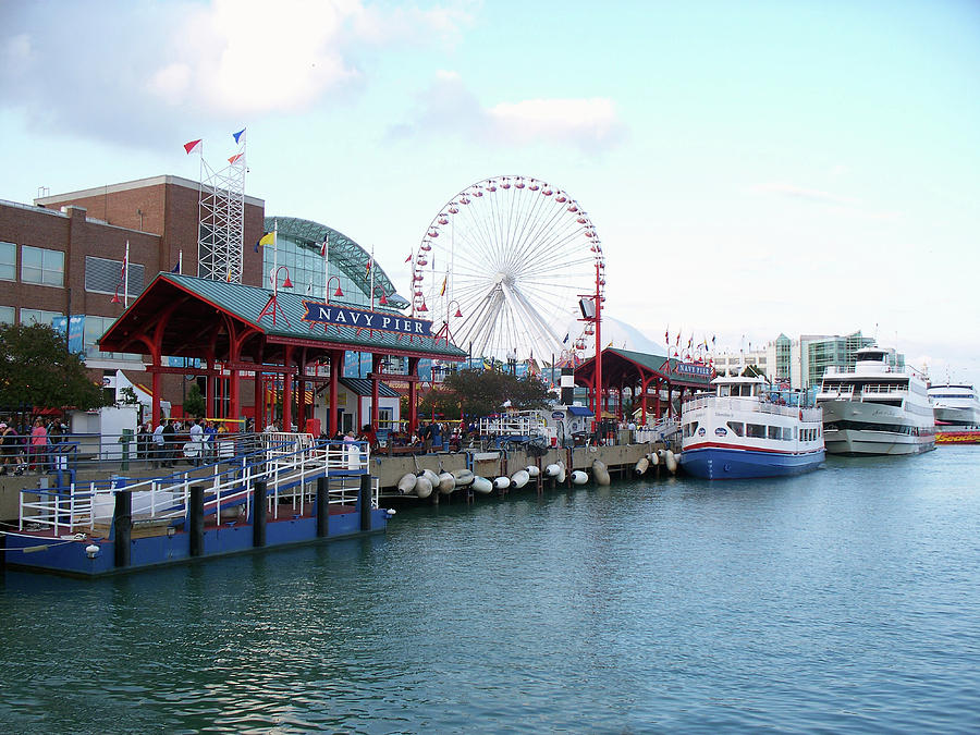 Cities Photograph - Navy Pier Chicago Summer Time by Thomas Woolworth