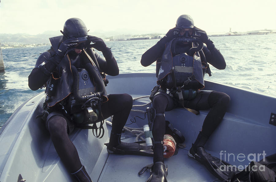 Navy Seals Combat Swimmers In A Utility Photograph By
