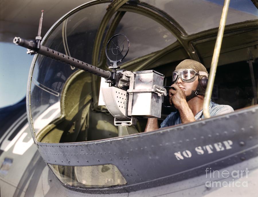 United States Photograph - Navy War Bird 30 Calibre Machine Gun by Padre Art