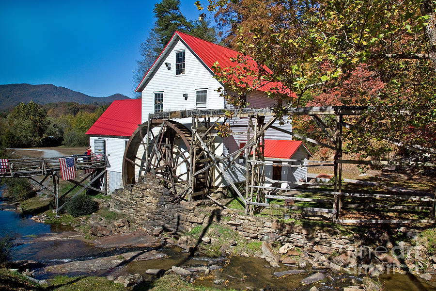 Grist Mill Photograph - N.c. Mill by Rick Mann