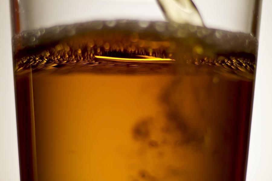 Near Beer Photograph - Near Beer Macro by Sven Brogren