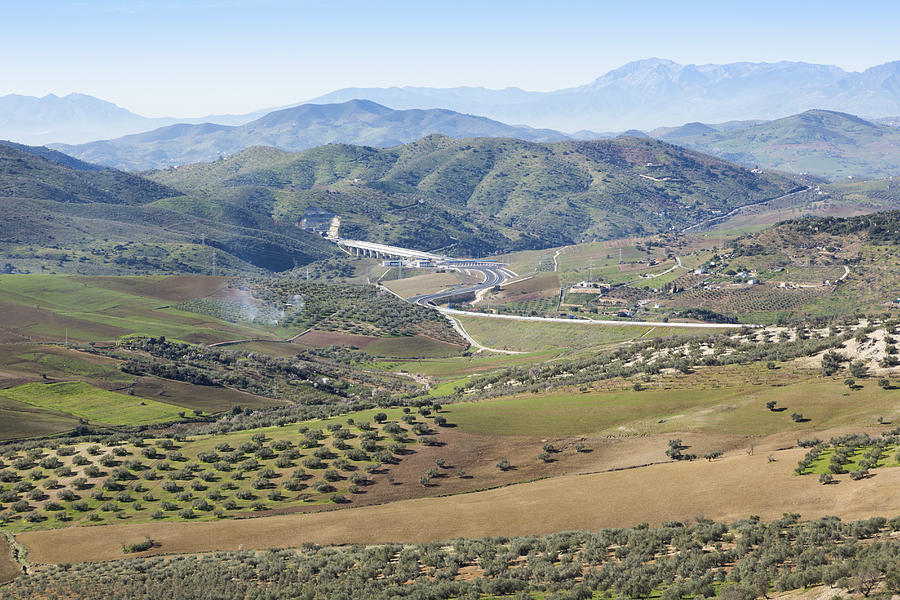 Horizontal Photograph - Near Casabermeja, Spain. Countryside. by Ken Welsh