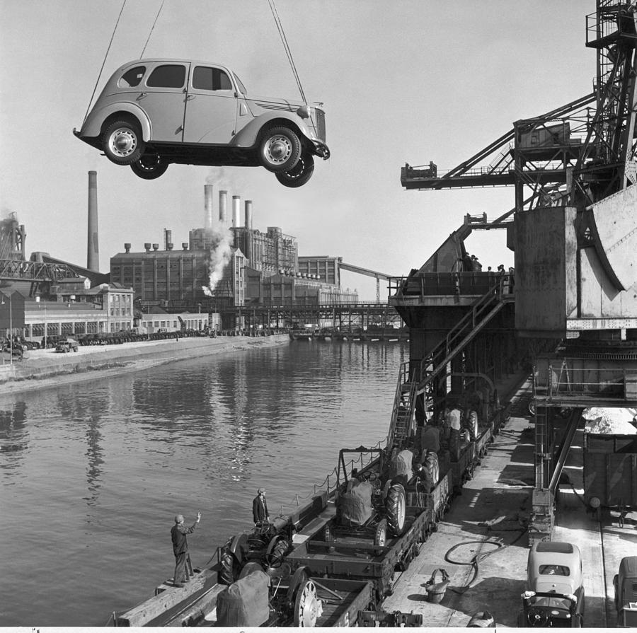Europe Photograph - Near London.  The Ford Motor Plant by B. Anthony Stewart