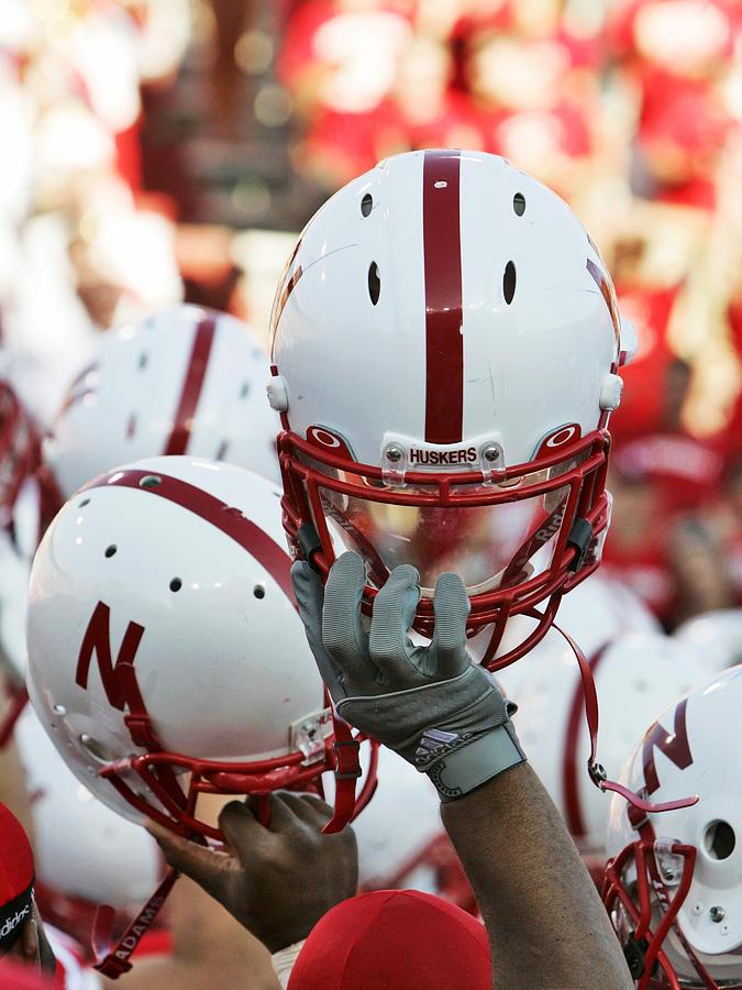University Of Nebraska Photograph - Nebraska Football Helmets  by University of Nebraska