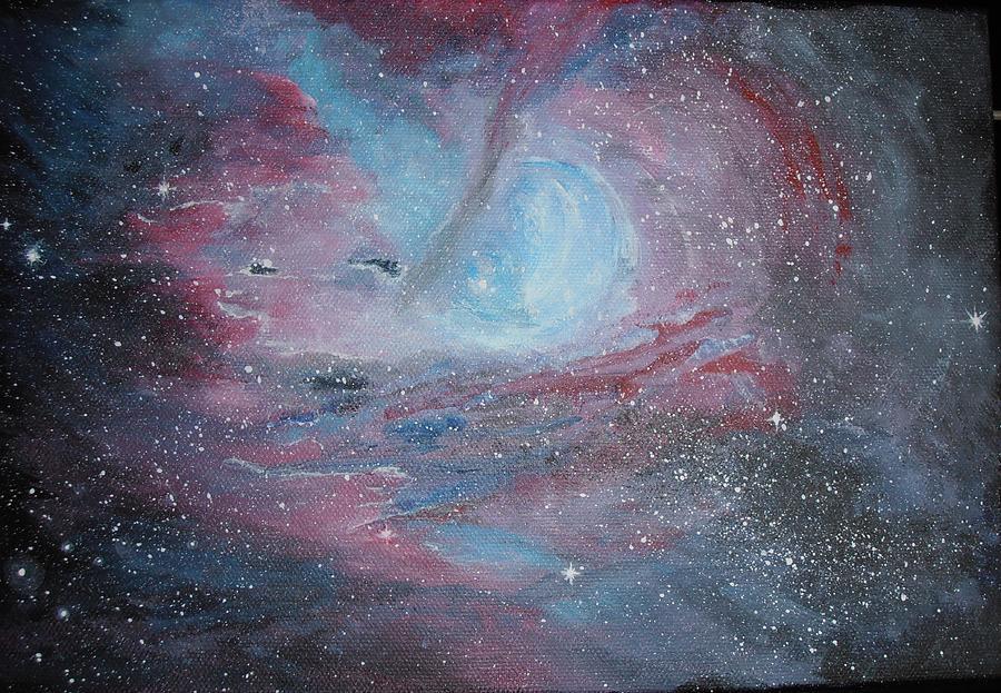 Nebula Painting - Nebula 2 by Siobhan Lawson