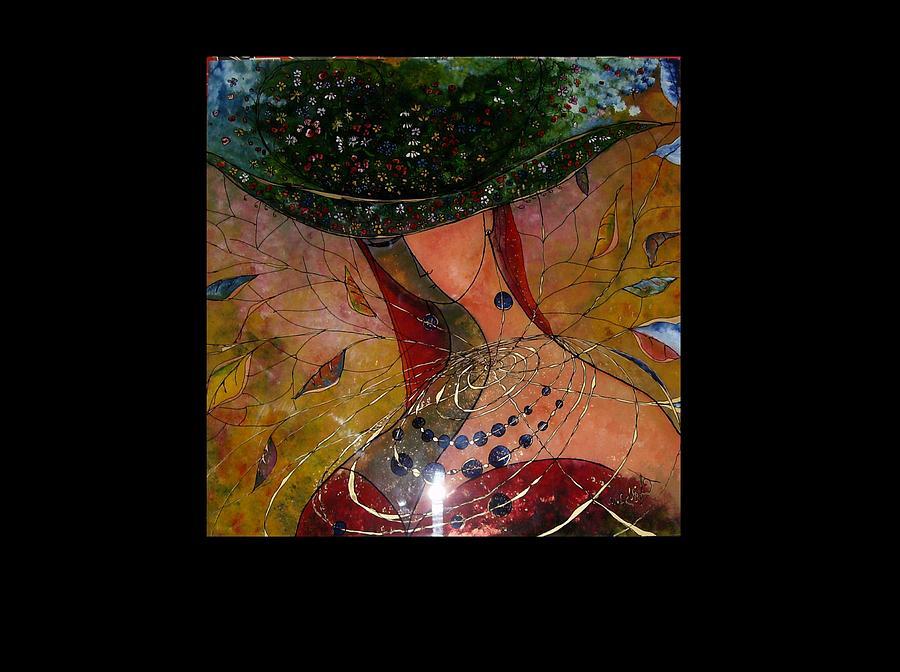 Woman Painting - Nebula 3 by Cornelia Tersanszki
