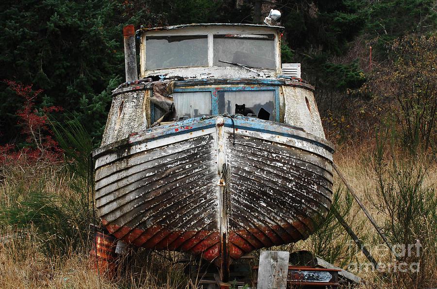 Fishing Boats Photograph - Needing Work by Bob Christopher