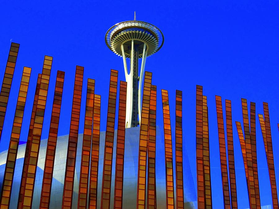 Space Needle Photograph - Needle In A Haystack by Randall Weidner