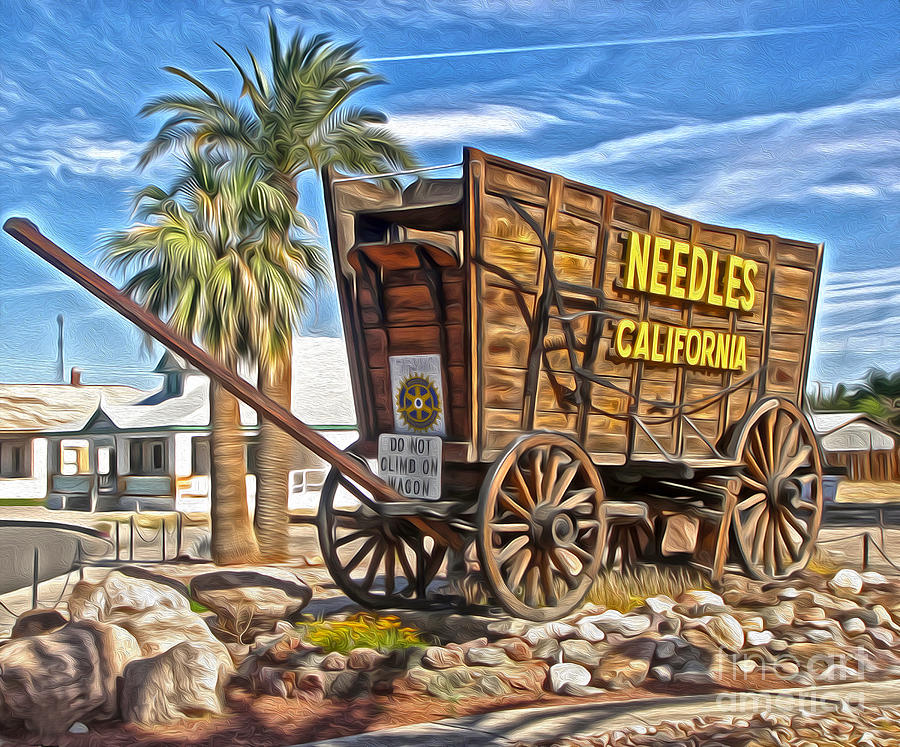 Needles Painting - Needles California by Gregory Dyer