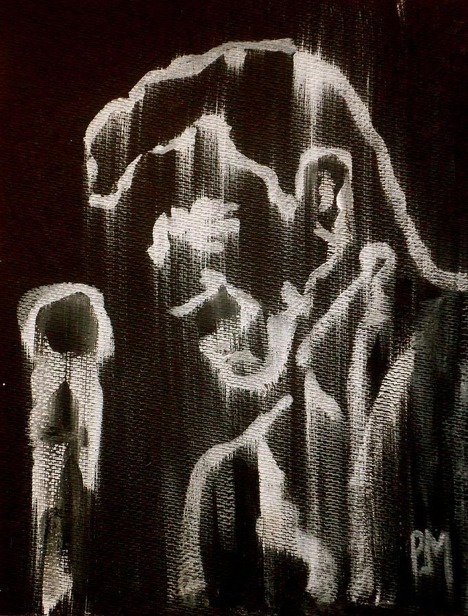 Johnny Cash Painting - Negative Streak by Pete Maier