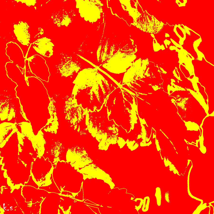Red Digital Art - Negiot by Keren Shiker