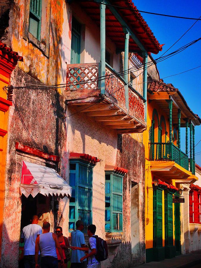Cartagena Photograph - Negocio by Skip Hunt