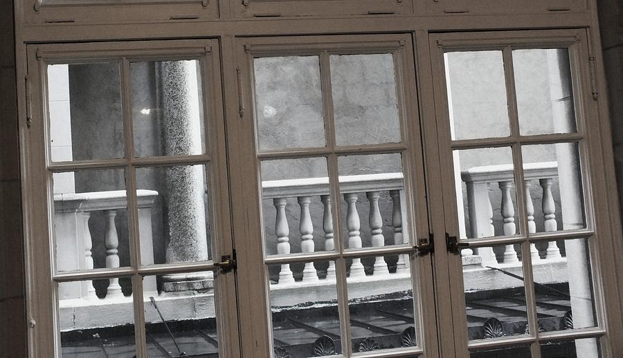 Columns Photograph - Neighbors Baluster by Anna Villarreal Garbis