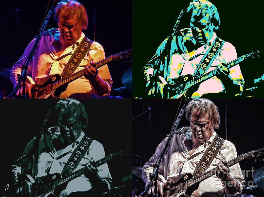 Neil Young Photograph - Neil Young Pop by Tommy Anderson
