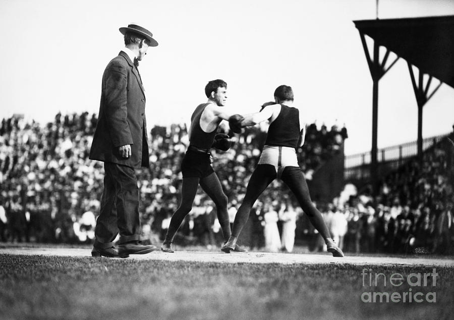 1902 Photograph - Nelson Vs. Hurley, 1902 by Granger