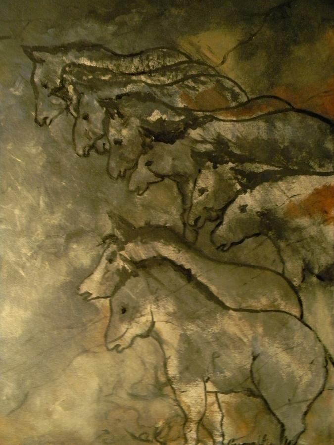Lascaux Painting - Neolithic Horses by John Connaughton