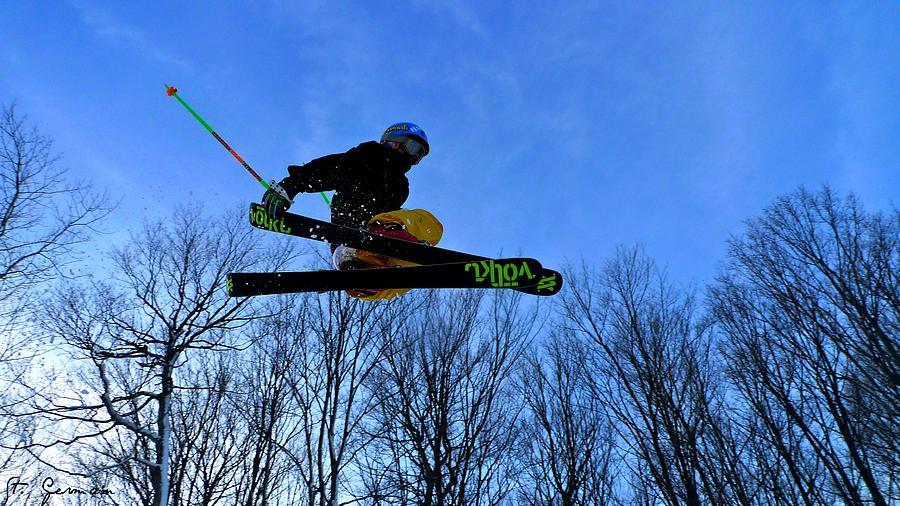 Ski Photograph - Neon by Amanda St Germain